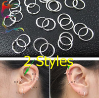 Wholesale fashion Pure Silver sleeper small hoop earrings cm pairs comfortable stud earrring jewelry
