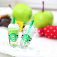Wholesale 50pcs Cute Starbucks shaped mm earphone jack dust cap plug for iPhone G S Samsung HTC