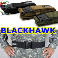 Wholesale man Blackhawk military belt strong camo canvas belt police solder tactical waistband gridle Free ship