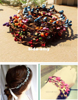 Wholesale Wedding decoration Bracelet wreath hair band material pretty berry stem for DIY wreath floral arrangement crafts decoraiton