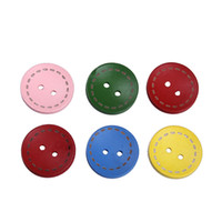 Wholesale ZFI27 Fashion g Colorful Sculpture Dashed Star Sewing Wooden Buttons Loose Beads Fit Scrapbook Craft Clothes Decoration Holes