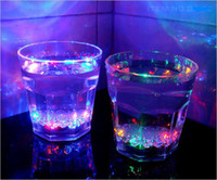 Wholesale Water Sensor Colorful flashing beer cup mug pour on the light strange new luminous cup Creative cup wsd69