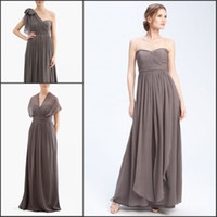 Sash Sleeveless Convertible Neckline Elegant Strapless DIY Convertible Neckline Flowing Chiffon Bridesmaid Dresses