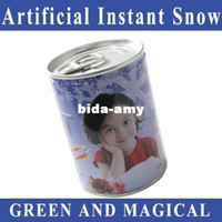 Wholesale Funny Christmas Gifts instant snow magic snow fake snow christmas toys flake spray party artificial Instant snow