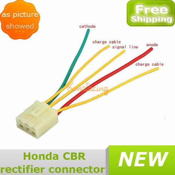 Free shipping wholesales New Honda Motorcycle CBR Rectifier connecotr For Regulator Voltage voltage regulator upgrade help needed sprockets forum 5 wire rectifier diagram at gsmx.co