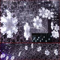 Wholesale 132 LED lights m m Drop Ceiling Ornament Icicle Lights Shop window Decorations Christmas ornament window decoration items bar partition