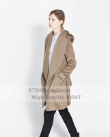 belted camel coat - 2013 winter ultra soft feel deep camel wool coat hooded windbreaker woolen belt ornaments XS XXL A few DHL discount off