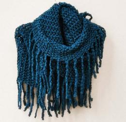 Wholesale Girls Wool Neckerchief Tassel Scarf Child Neckerchief Knitted Scarves Winter Scarf Warm Scarves Children Accessories Fashion Princess Scarf