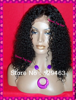 Wholesale STOCK hair density Glueless SILK TOP lace front wig kinky curl with baby hair NATURAL SCALP COLOR