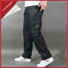 Wholesale Hot Retail Winter Brand Men Big Size XXXL XL Warm Sport Pants Fleece Thermal Running Ski Pants
