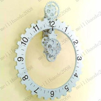 Wholesale Brand new Retro Modern Big gear wall clock Table Clock Art Clock Metal amp Plastic Clock Craft Clock MYY6764