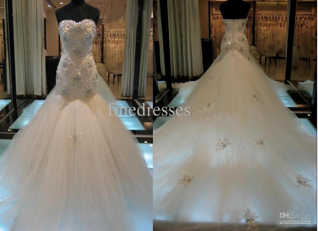 The gallery for Diamond Mermaid Wedding Dresses