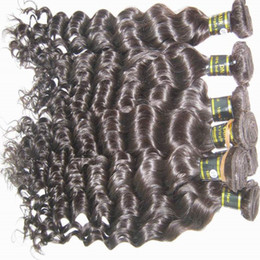 Wholesale New arrival A Deep curly Raw Indian virgin hair wefts g piece queen hair products can be dyed