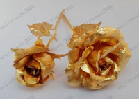 Wholesale Arts and Crafts Lover s gift Christmas gift Gold Rose with gift box Dipped in K Gold bud and bloom can select MYY6766