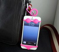 Cheap Silicone iPhone 4 5 mountain case Best universal  phone holder case