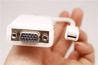 Wholesale Mini DisplayPort DP to VGA Adapter Male to Female M F For Macbook Pro IMac Mini