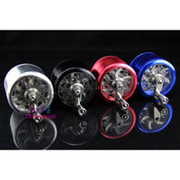 Wholesale Metal Alloy Tobacco Herb Grinder Pocket pc Parts layer HAND CRANK Cigarette Smoking Spice Crusher