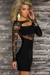 Wholesale 2013 Fashion Lady Long Sleeve Lace splicing Pub Design Sexy Lingerie Women s Sexy Dancing Clubwear Dress Sexy Costumes With G string