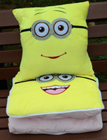 Cheap Despicable me Minions cotton plush air conditioner quilt 150*100cm 3 Styles made in China