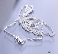 925 sterling silver chains - New Fashion inch Sterling Silver Necklace Link Chain with Clasps For Pendant DIY strand SH5