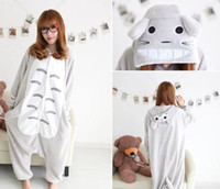 anime cosplay dress - New Hot Sale Lovely Cheap Kigurumi Pajamas Anime Gray Totoro Cosplay Costume Unisex Adult Onesie Dress Sleepwear Halloween S M L XL