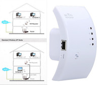 Wholesale Wireless N Wifi Repeater N B G Network Router Range Expander M dBi Antennas Signal Boosters