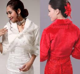 Wholesale Best Selling Bridal Jecket White Long Fur Wedding Fur Wrap Cape Shawl Jackets Long Sleeve coat wrap tippet Winter Jecket