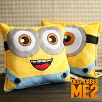 Despicable me 2 Minions little soldiers face plush pillow EM...