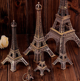 Wholesale Vintage Design D Paris Eiffel Tower Metallic Model Bronze Color Craft for Wedding Gift Shooting Prop Home Decoration Supplies