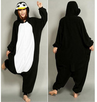 Wholesale New Lovely Cheap Black Penguin Kigurumi Pajamas Anime Pyjamas Cosplay Costume Unisex Adult Onesie Dress Sleepwear Halloween S M L XL