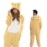 Anime Costumes adult halloween pajamas - Lovely Cheap Easily Bear Kigurumi Pajamas Anime Pyjamas Cosplay Costume Adult Unisex Onesie Dress Sleepwear Halloween S M L XL