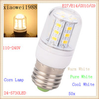 110V- 220V E27 E14 GU10 G9 5730 24LEDs Corn Bulbs or Lamps 57...