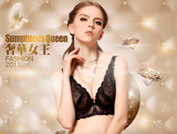 Bras Cotton Normal New Black Arrival Luxury Lace Deep V Cleavage push-up Bra size 32A
