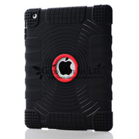 Wholesale Drop Shock Resistant Non Slipping Silicone Case Cover for Apple iPad Colors