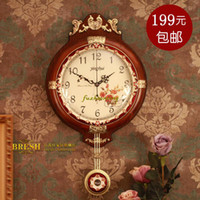 Mechanical Wall Clocks Bamboo & Wooden Solid wood wall clock movement quieten 223