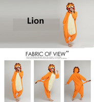 Anime Costumes Unisex Animal Free Shipping Lovely Cheap Orange Lion Kigurumi Pajamas Anime Pyjamas Cosplay Costume Adult Unisex Onesie Dress Sleepwear Halloween S M L XL
