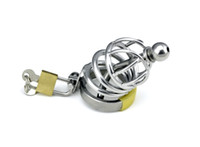 Cheap Sex Toy New STAINLESS STEEL CHASTITY DEVICE Male BONDAGE CAGE Gay BDSM Fetish Adult Products A065
