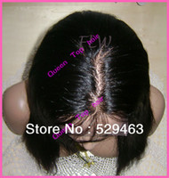 Wholesale Freeshipping Stock Natural straight full lace wig for black women can wear ponytail quot quot available