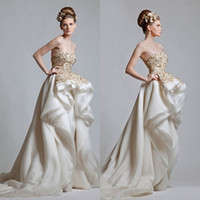 Wholesale Formal sexy sweetheart wedding dress high low short front long back beaded applique lovely vintage pretty prom gown party evening dresses