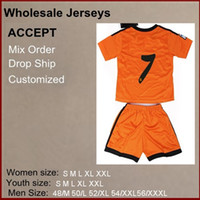 Wholesale Cheap Top Quality Season soccer jerseys ROWALDO Orange color Madrid kids soccer jerseys mix order
