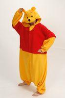 Unisex adult onesie - Hot Sale Lovely Cheap Winnie the Pooh Kigurumi Pajamas Anime Pyjamas Cosplay Costume Adult Unisex Onesie Dress Sleepwear Halloween S M L XL