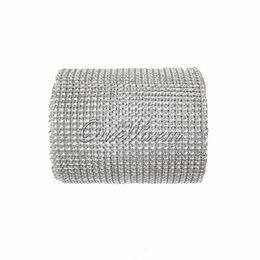 Wholesale For Roll Yard Silver Diamond Mesh Rhinestone Ribbon Crystal Wedding Wrap Multi Colors