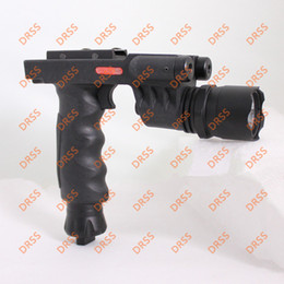 Drss Tactical Grip with Flashlight Head and Red Laser For Hunting