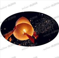 LLFA3037 gros mariage coloré ballons volants Paper Sky lanternes chinoises en papier envies Lampes flottantes Lumières de fête d'anniversaire Décoration