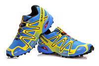 Wholesale Top Profession Brand Salomon Speedcross Weight Mountaineer Running shoes Classic Styling Mens Rock Climbing Shoes Size US40