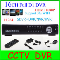 Wholesale CCTV CH Full D1 H DVR standalone Super DVR HDVR NVR Security DVR System P HDMI output Support G amp WIFI extension