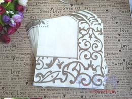 Wholesale New Listed Square cm cm Serviettes Paper Napkin Virgin Wood Paper Napkins Serviette Wedding Party Gift Favor Decoration
