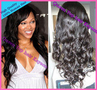 """Wrap Pony Wig Black Best quality cheap price 20""""#1b pretty wavy virgin malaysian Full lace wig Front lace wig glueless can be made ponytail"""