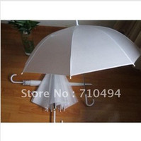 Wholesale Free DHL shipping white wedding umbrella promotion amp advertising umbrella logo print acceptable