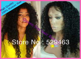 Wholesale Queen Top Brazilian Virgin Hair Curly Afro Front Lace Wigs Full Lace Wigs With Baby Hair Bleach Knots Glueless